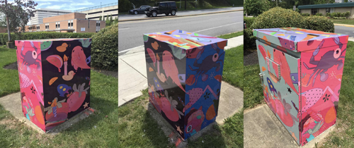 Harper Matsuyama's Traffic Box. Located at Adelphi Rd & Toledo Rd.