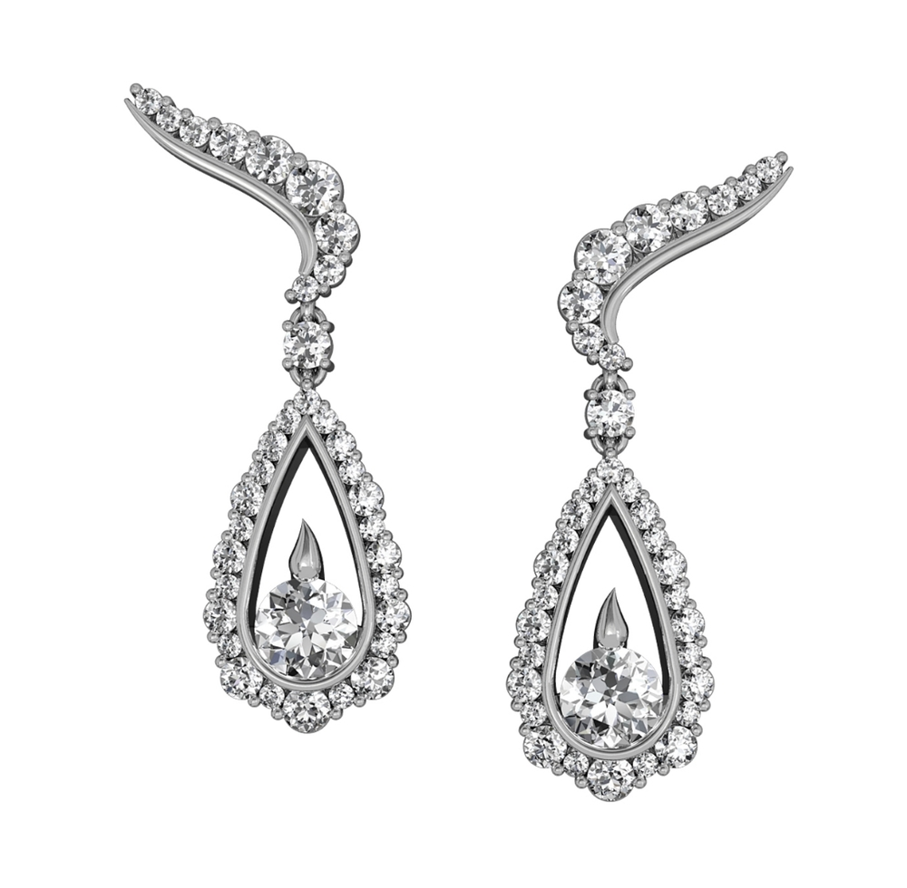 Integré Diamond Drop Earrings
