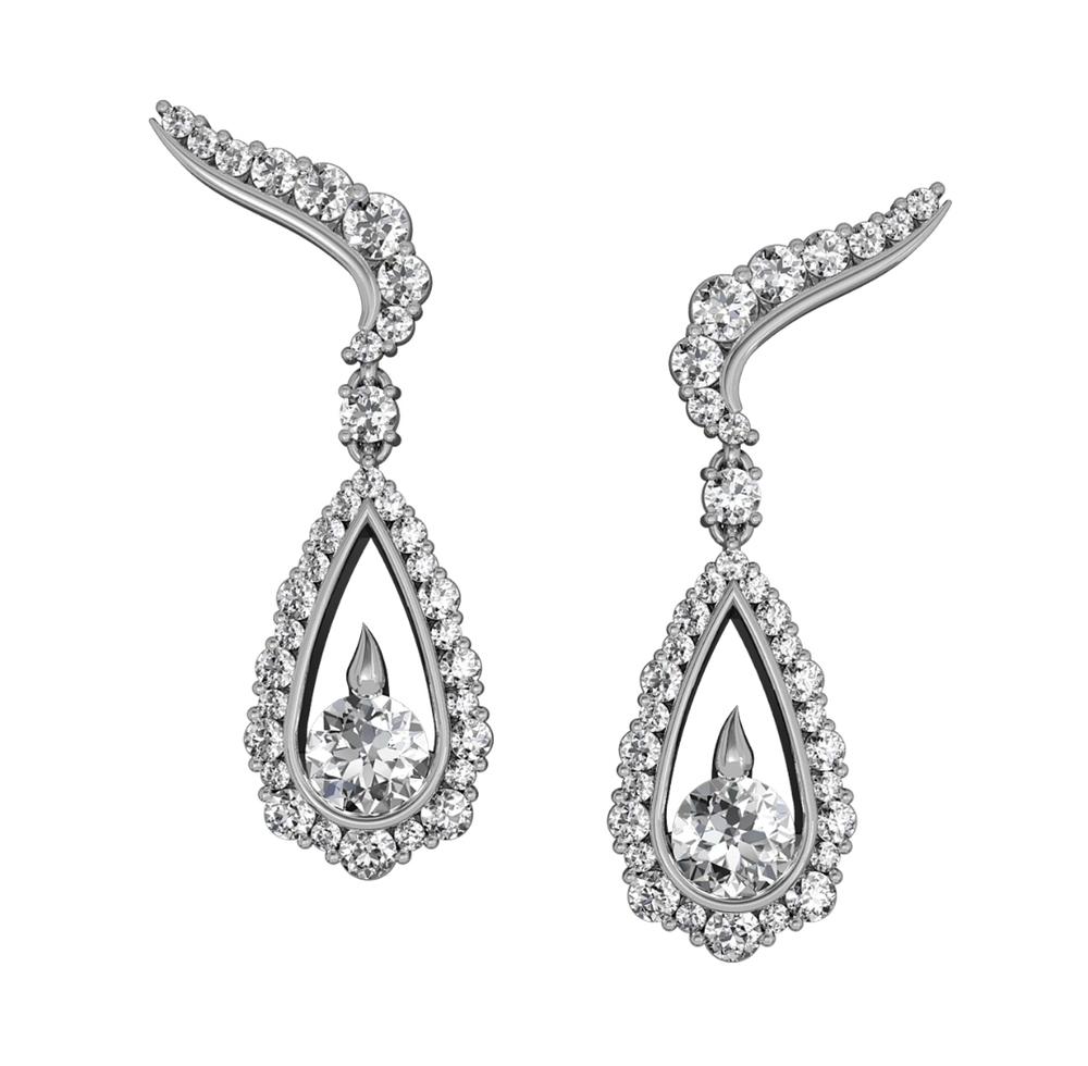 Integré Diamond Drop Earrings