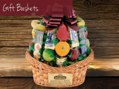 We offer a range of gourmet gift baskets including hand-selected products from our own departments. Our f  loral department offers a variety of the highest quality bouquets, cut flowers and roses from   Nature's Flowers   and   Sunshine Bouquets.