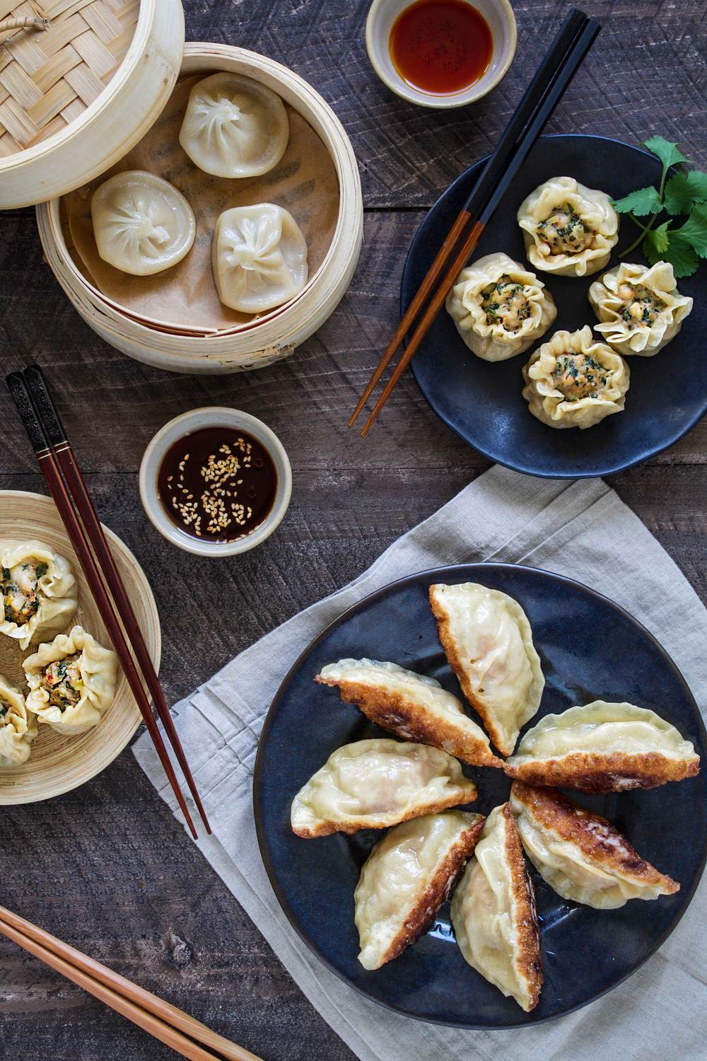 potstickers and homemade dumplings