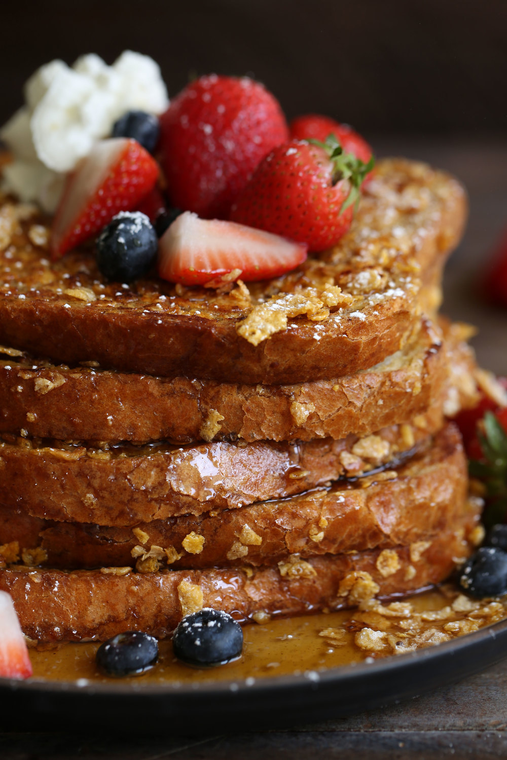 corn flake french toast closeup