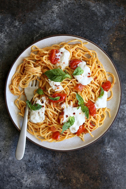 confit cherry tomato pasta