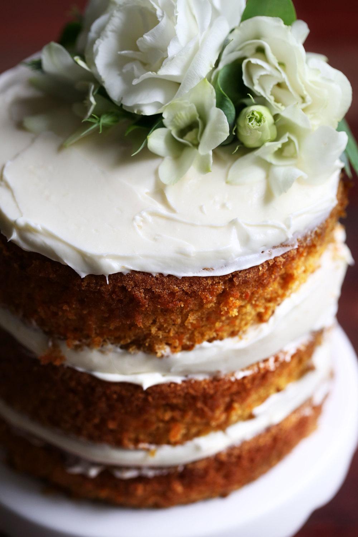 carrot cake closeup