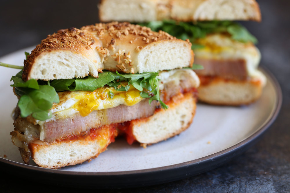 porchetta egg cheese sandwich