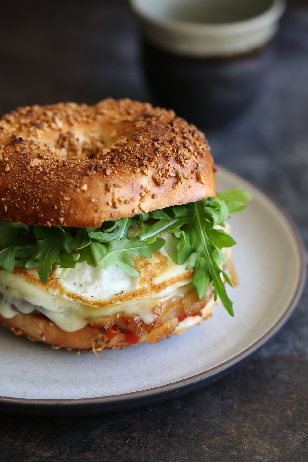 porchetta egg and cheese bagel
