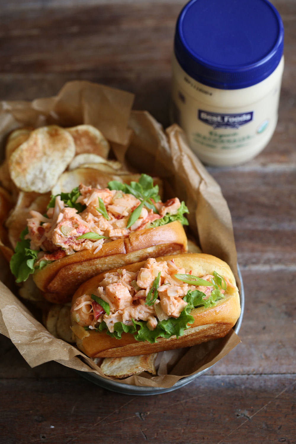 mini lobster rolls with spicy mayo and ponzu