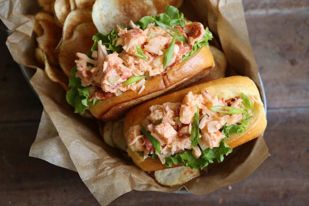 mini spicy lobster rolls