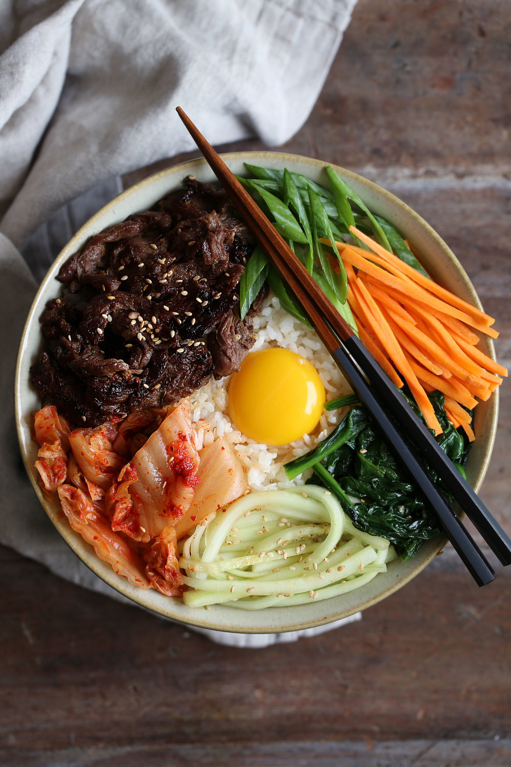 Bulgogi Bibimbap — Cooking with Cocktail Rings