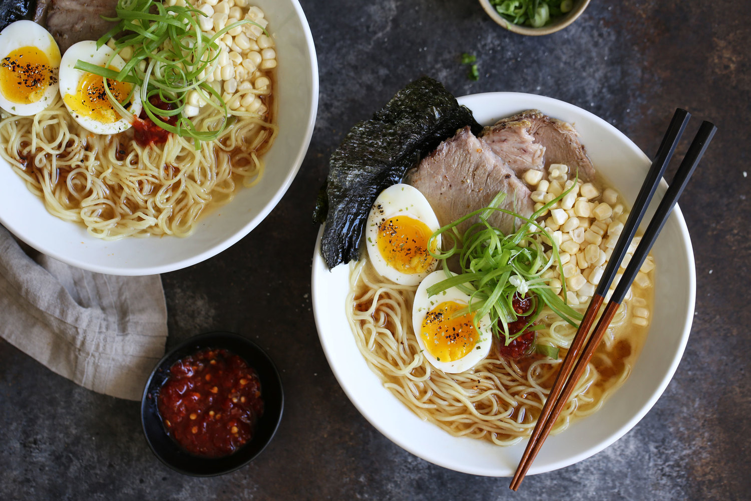 Tonkotsu Ramen with Black Garlic Oil — Cooking with Cocktail