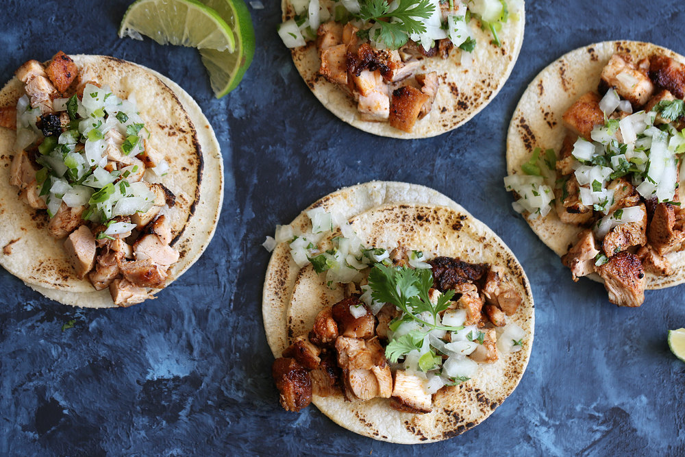 Mexican Chicken Street Tacos Cooking With Cocktail Rings