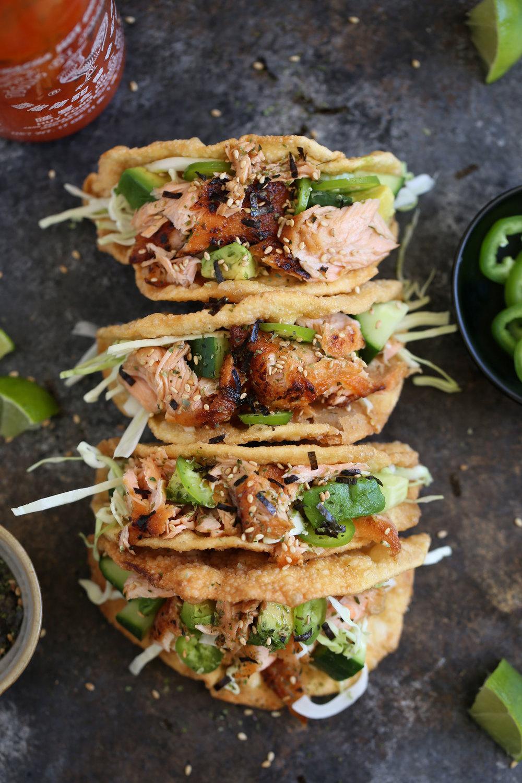 ponzu salmon tacos
