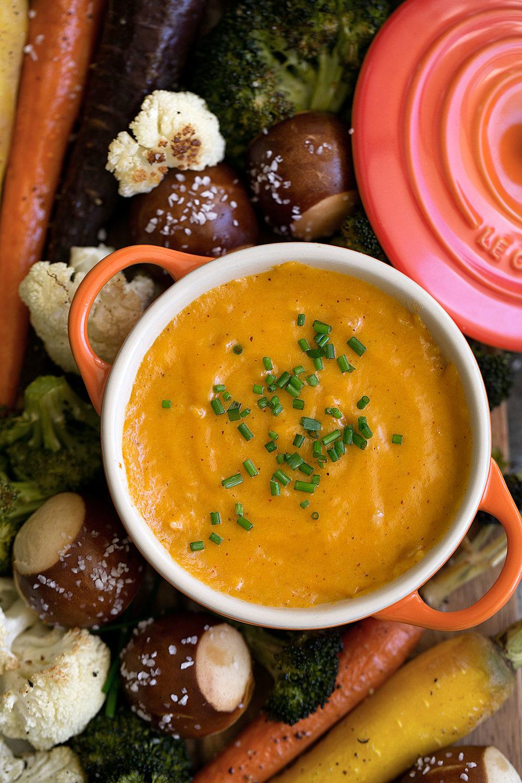 aged cheddar fondue