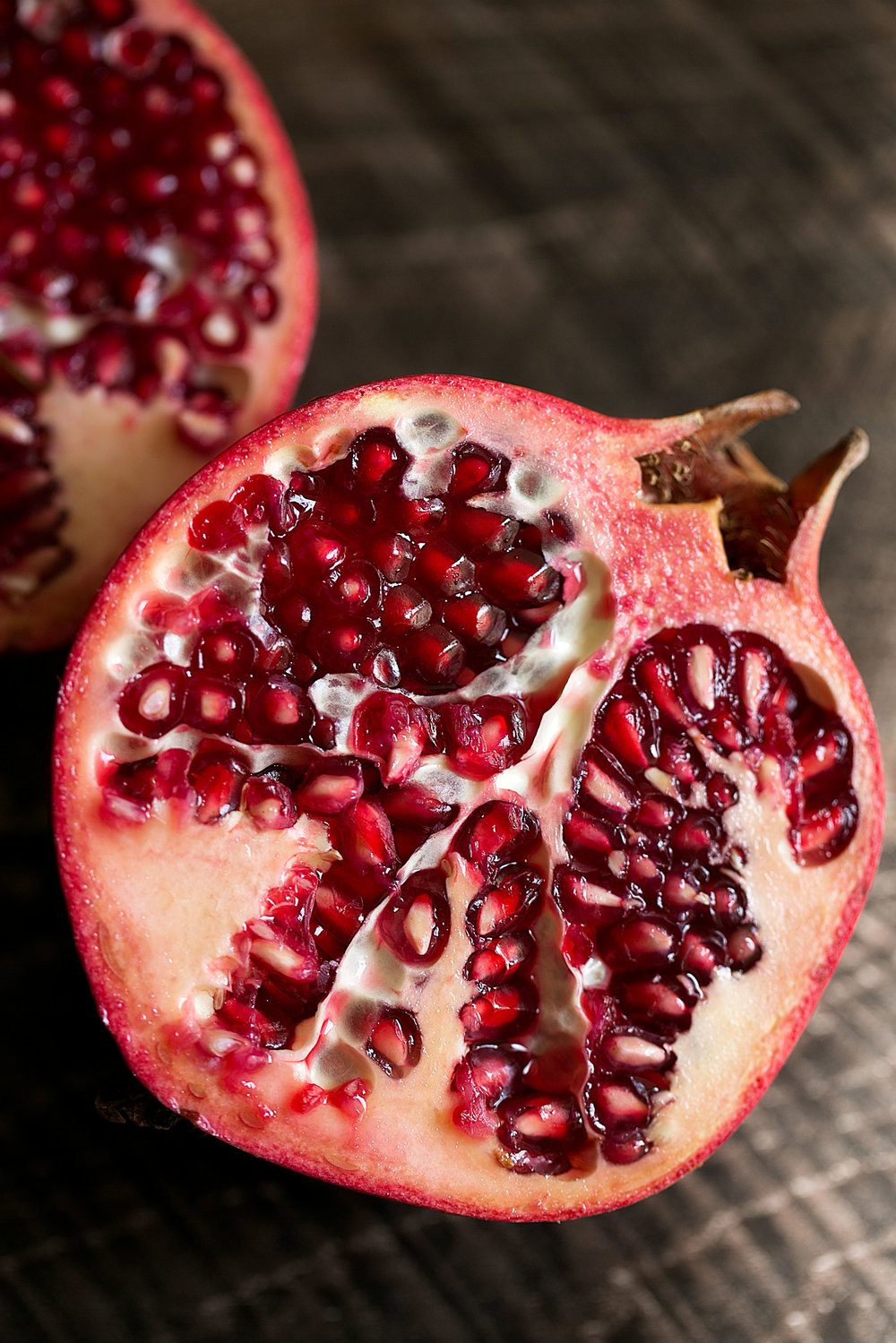 closeup pomegranate
