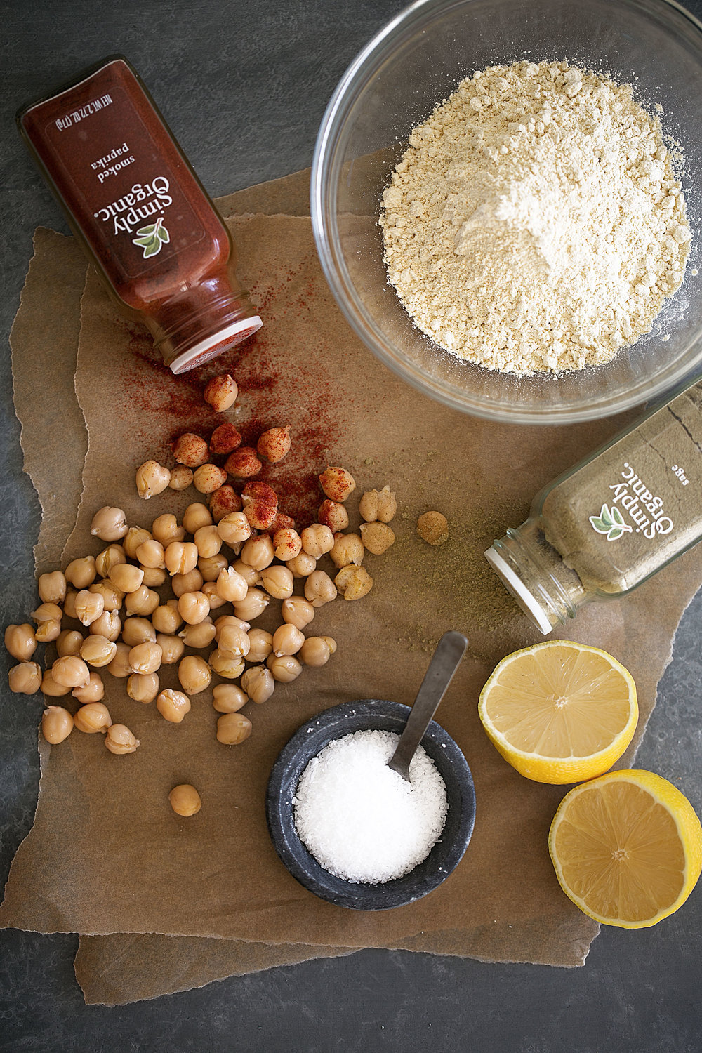 chickpea fritters ingredients