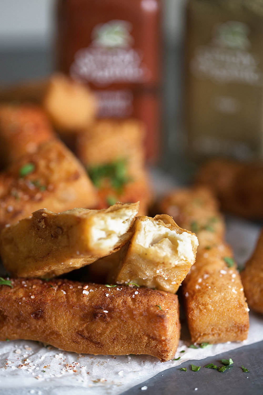 open chickpea fritter