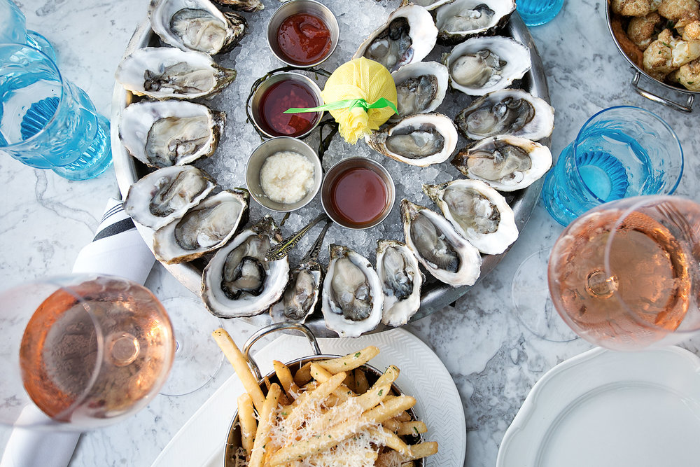 book club meeting herringbone santa monica wine and oysters sweetbitter