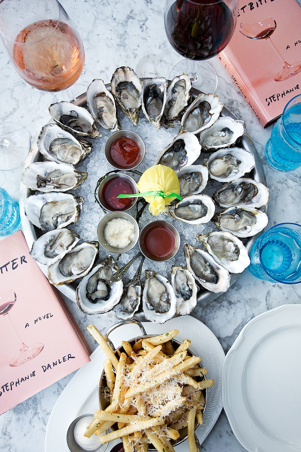 book club herringbone santa monica wine and oysters