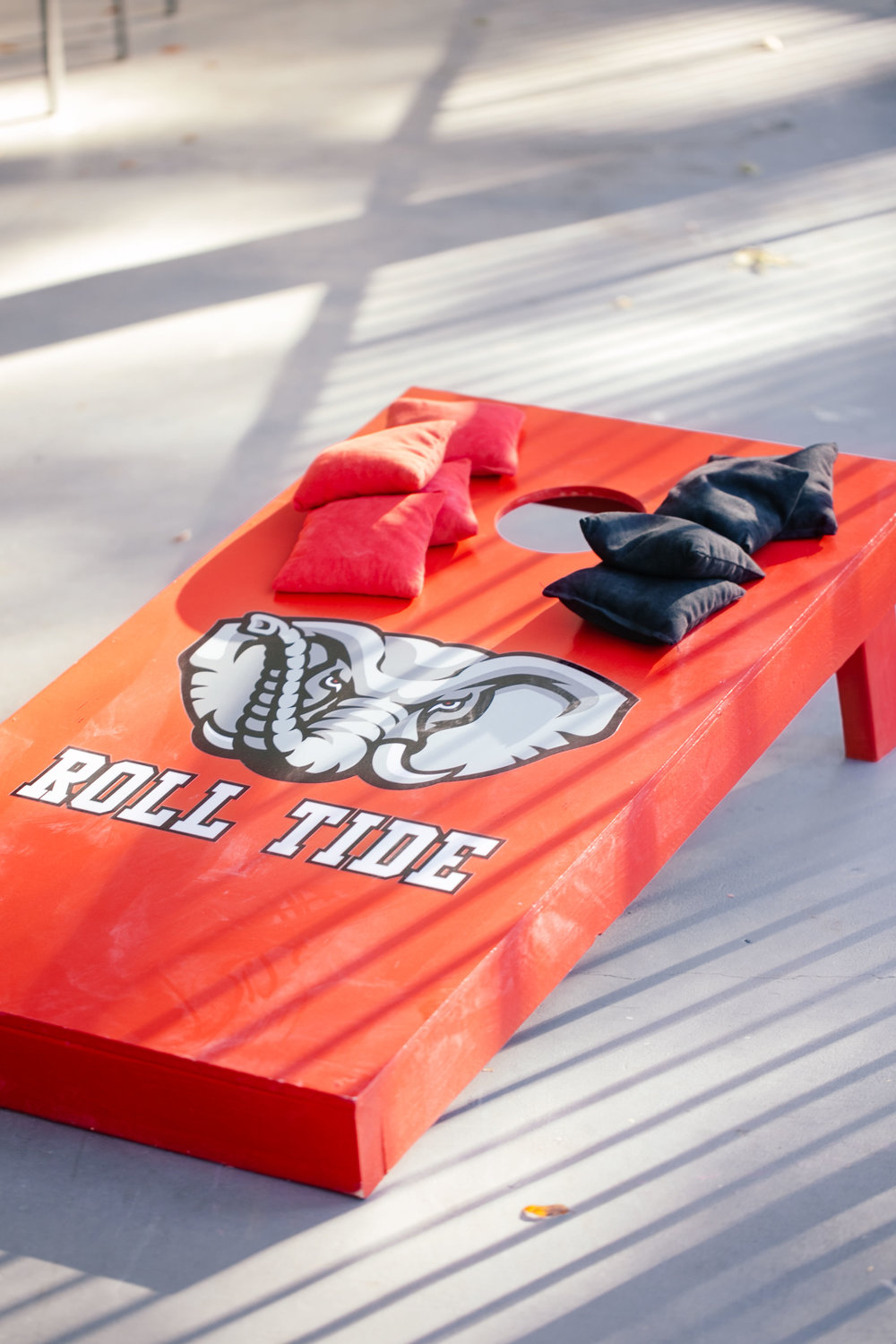 cornhole board alabama roll tide