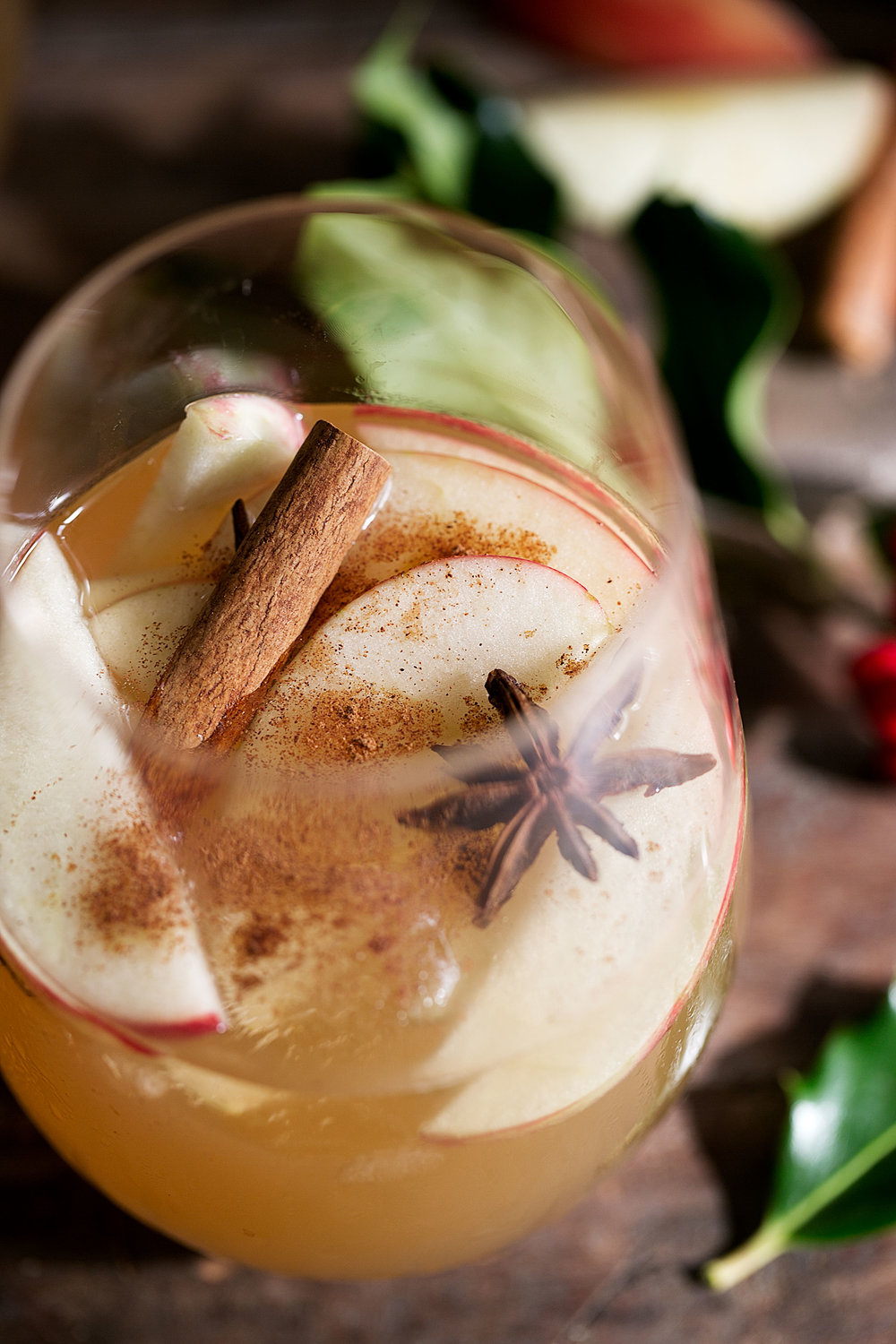 closeup apple sangria