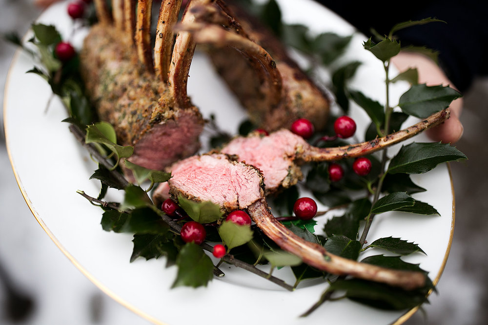 herb crusted rack of lamb cut pieces
