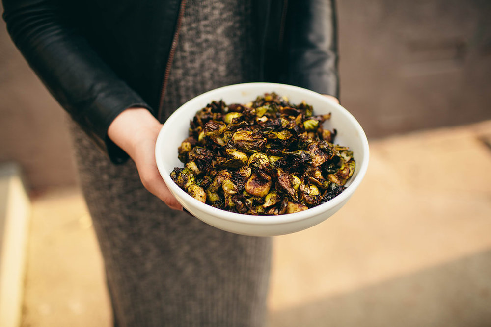 balsamic sriracha roasted brussels sprouts