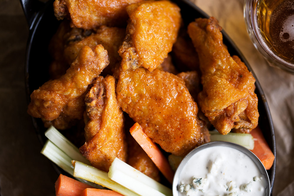 classic buffalo wings closeup