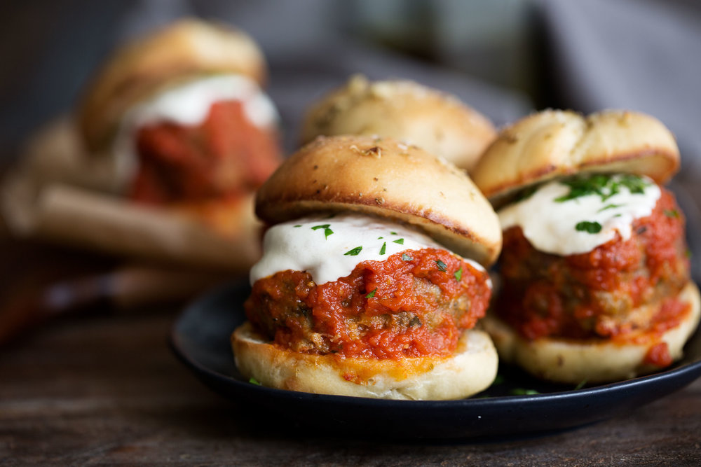 garlic knot meatball sliders