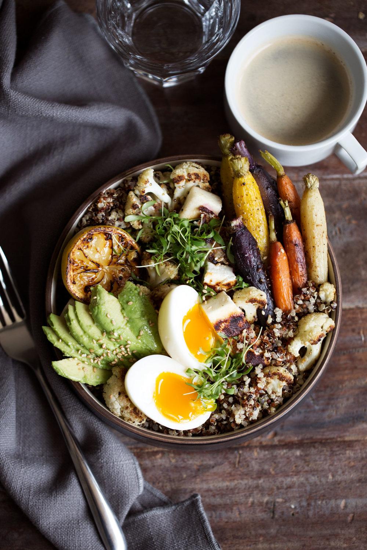 farmer's market breakfast grain bowl
