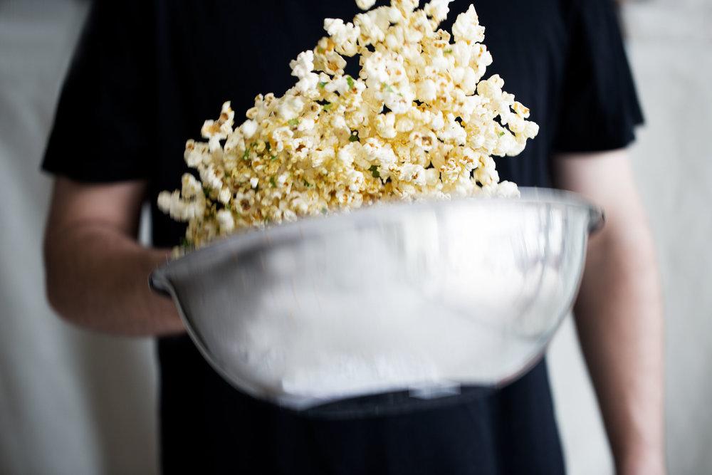cheesy popcorn toss