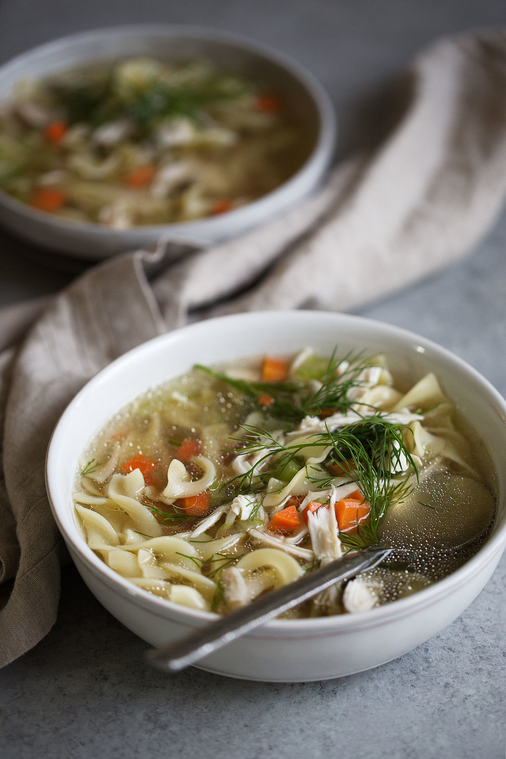 old-school chicken noodle soup