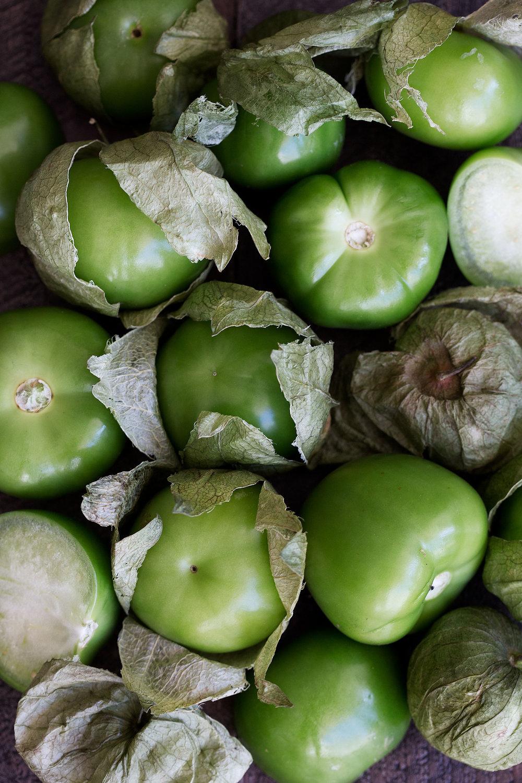 closeup tomatillos