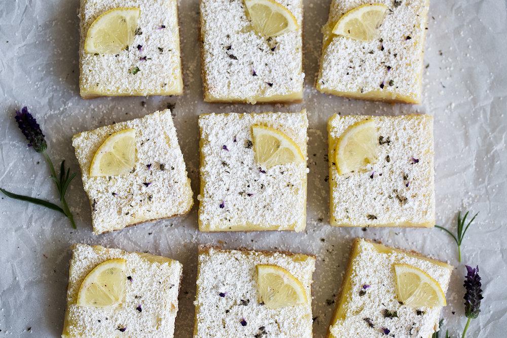 lemon lavender cut squares