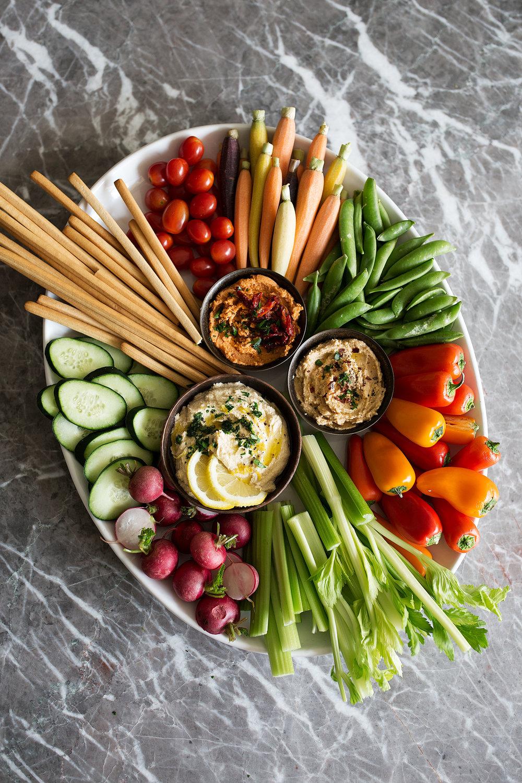 Mediterranean Crudités Platter