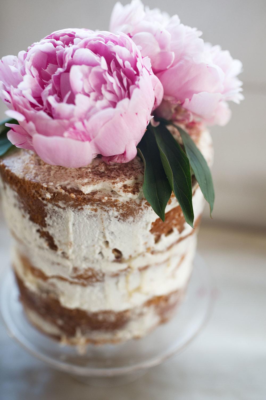 tres leche cake closeup