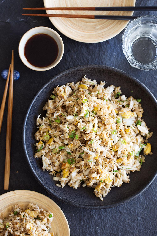 garlic crab fried rice
