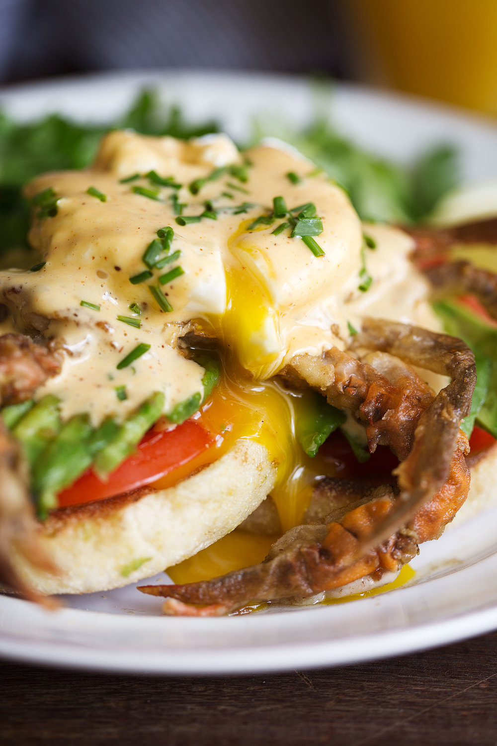 soft shell crab eggs benedict