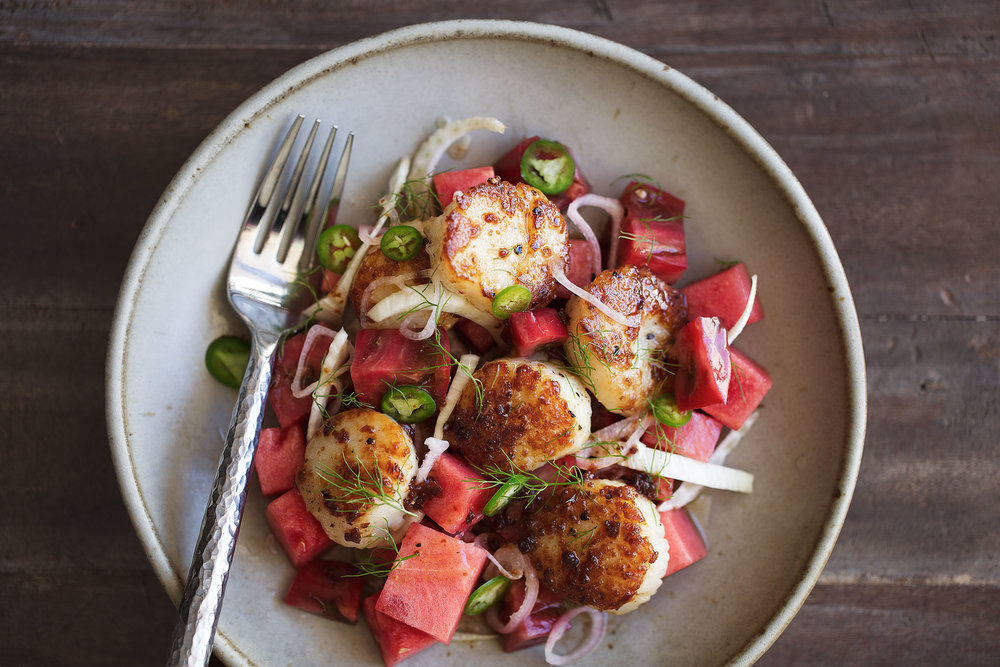 brown butter scallops summer dish