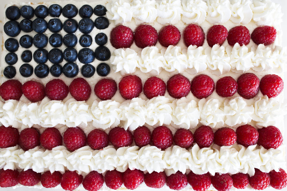 red white and blue patriotic cheesecake