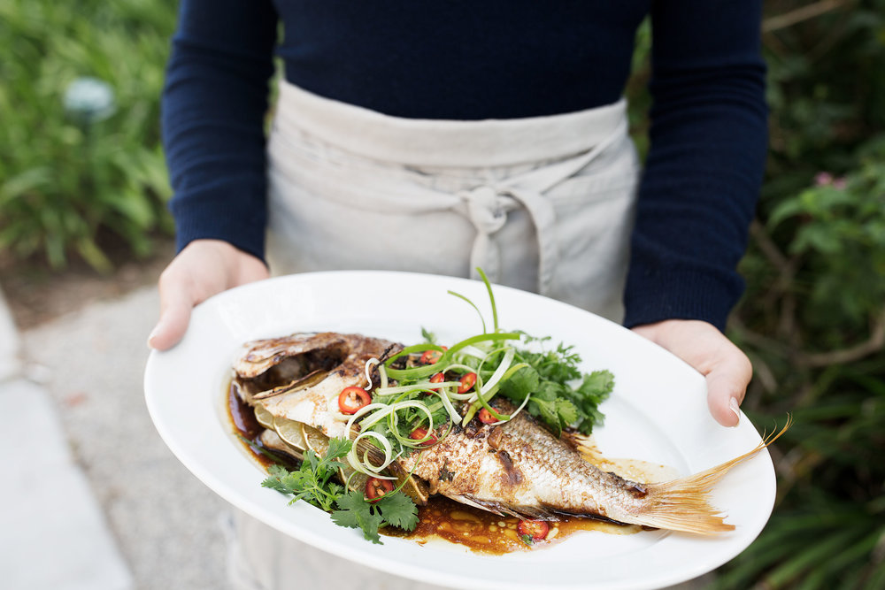 Whole Roast Red Snapper with Asian Spices