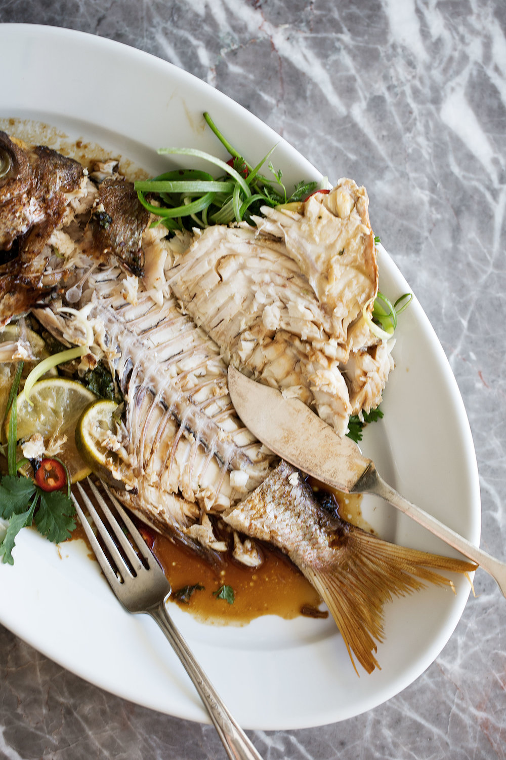 whole red snapper how to cut open and serve