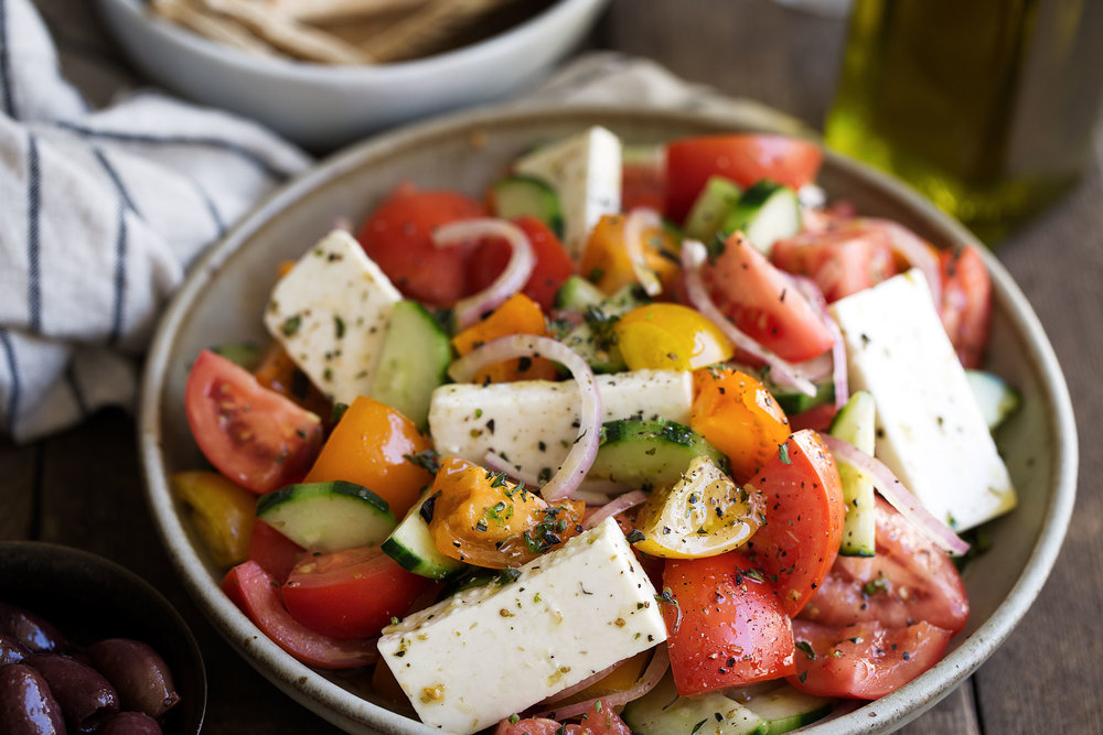 cooking with cocktail rings greek salad