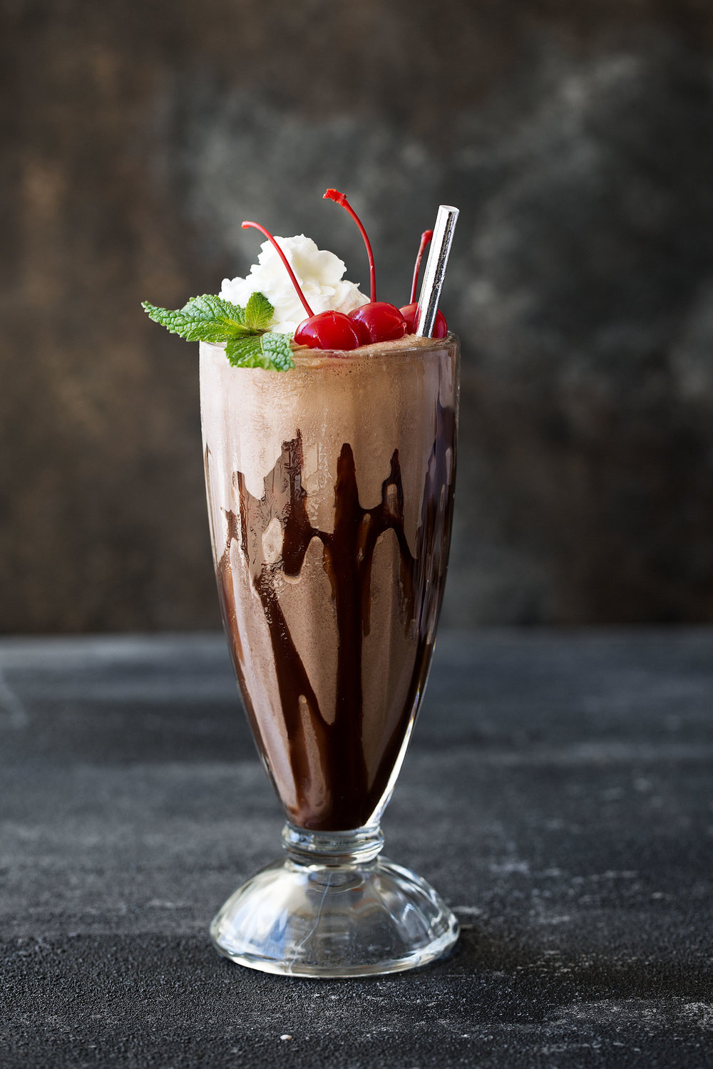 double chocolate malt shake