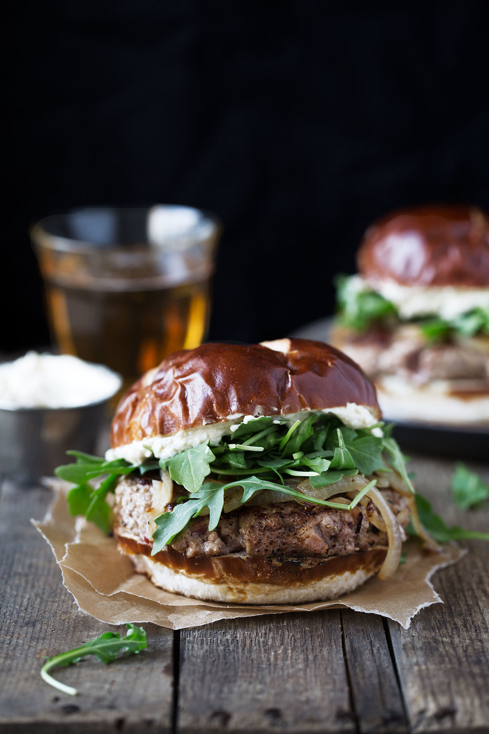 oktoberfest burger recipe from cooking with cocktail rings