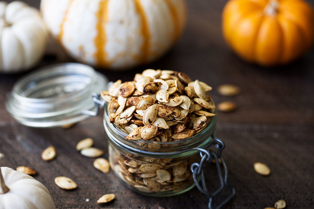 roasted ranch pumpkin seeds