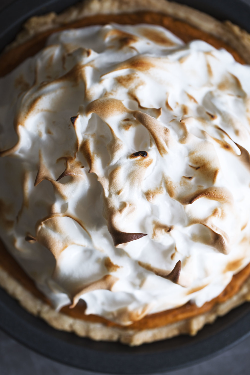 sweet potato pie with toasted meringue topping recipe from cooking with cocktail rings thanksgiving recipe
