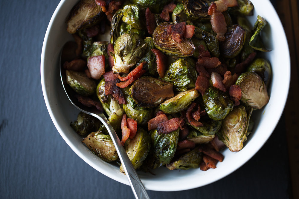 roasted balsamic brussels sprouts with bacon cooking with cocktail rings