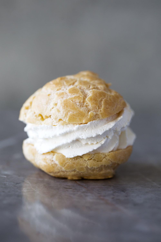 cream puff closeup