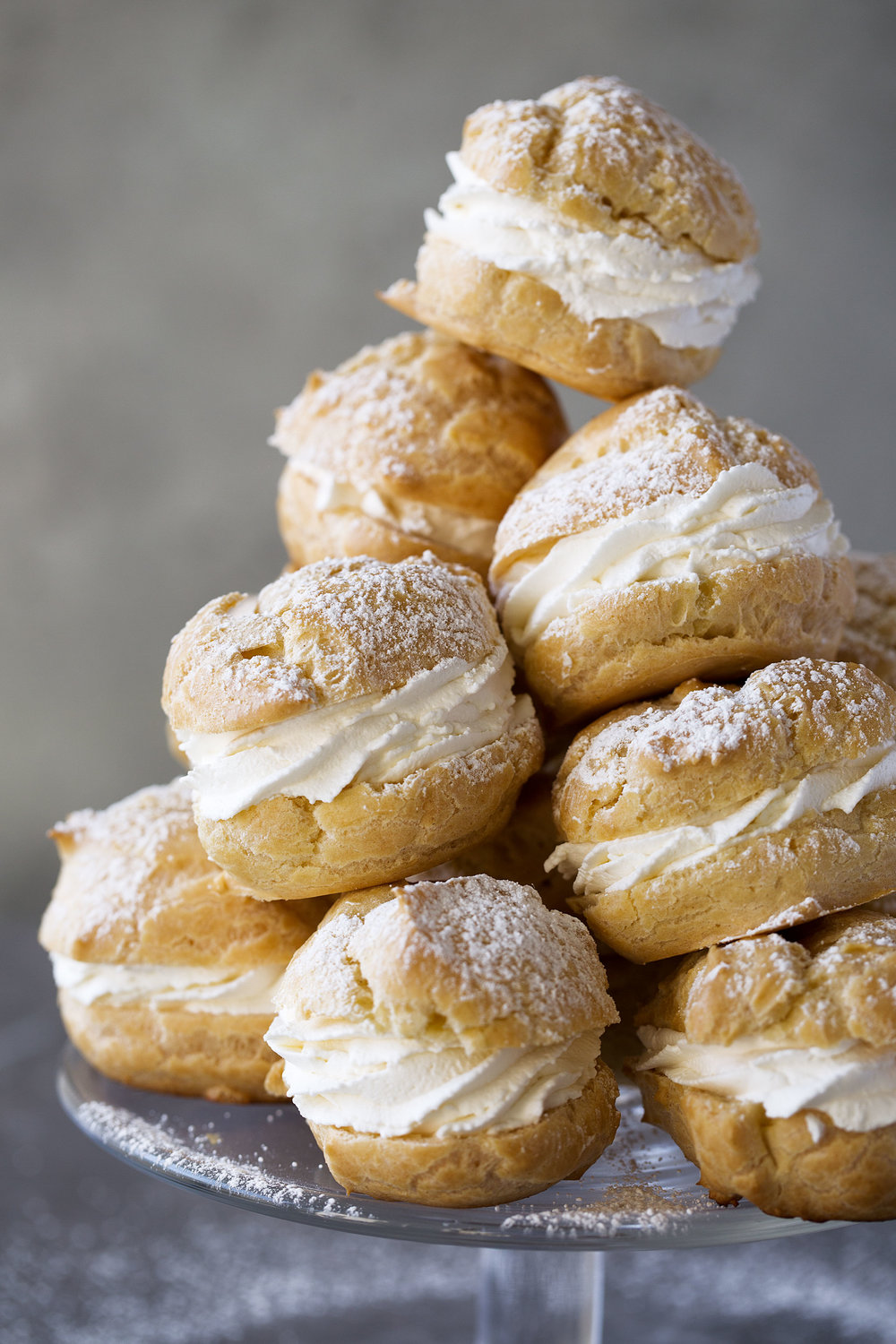 cream puffs recipe closeup cooking with cocktail rings