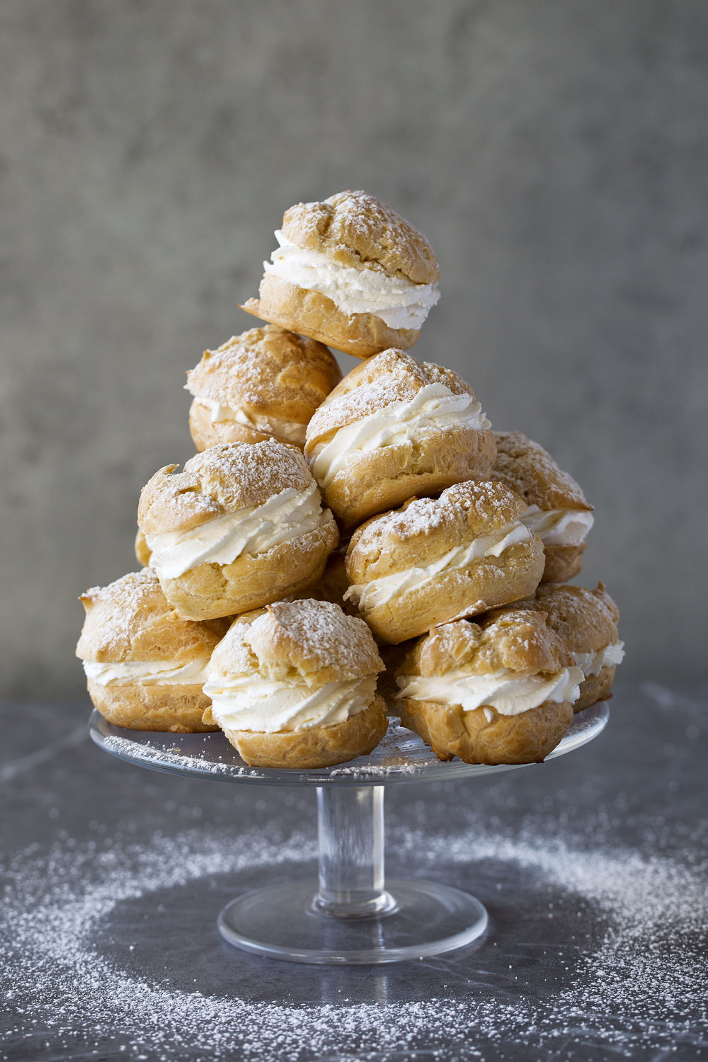 cream puffs tower recipe by cooking with cocktail rings